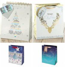 Pack of 2  TOM SMITH Gift Bags Christmas Xmas Festive Present Novelty Medium