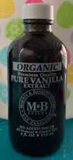 Morton & Bassett Spices Organic Pure Vanilla Extract All Natural - 4 fl oz