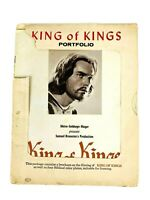 1961 King Of Kings Vintage Book Movie Portfolio. Cast with 6 Pictures 8×10 Jesus