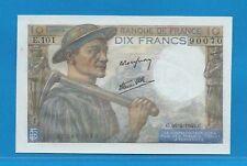 Gertbrolen 10 Francs ( MINEUR )  du 26-4-1945  E.101 Billet N° 250490070