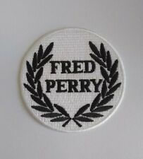 Fred Perry Sew or Iron On Patch  White & Black