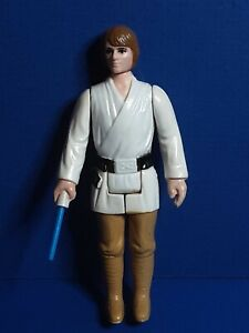 1977 Vintage Star Wars Luke Skywalker Farmboy Action Figure BROWN HAIR VARIANT