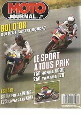 MOTO JOURNAL N°861 RC 30 CONTRE 250 TZR /  600 TUAREG / SUZUKI RM / KAWA 125 KMX