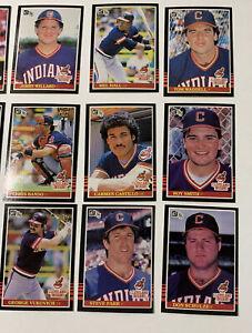 1985 DONRUSS MLB Baseball CLEVELAND INDIANS SET Lot 22 cards excellent condition