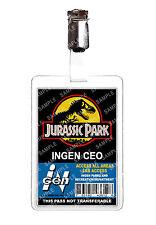 Jurassic Park CEO ID Badge Card Dinosaur Cosplay Film Prop Comic Con Comic Con