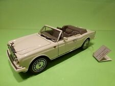 FRANKLIN MINT ROLLS ROYCE CORNICHE IV CONVERTIBLE - CREAM 1:24 - GOOD CONDITION