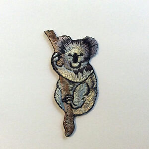 10 x 100% EMBROIDERY IRON ON KOALA PATCH EXQUISITE QUALITY AUSTRALIA ANIMAL