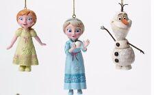 New in Box Jim Shore Enesco Disney Traditions Anna Elsa Olaf Ornaments 4046062