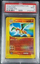 Pokemon PSA 9 Charizard Reverse Holo from Expedition! Mint! #6
