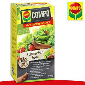 COMPO 1100 g Schneckenkorn Nacktschnecken Beet Schutz Gemüse Bio