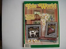 TOLE WORLD Jan/Feb 1992 Cow Cookie Tin