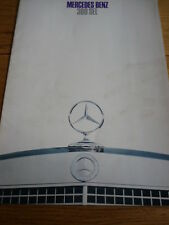 MERCEDES BENZ  300 SEL CAR BROCHURE 1968 /69 jm