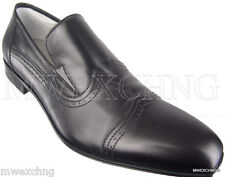CESARE PACIOTTI TRENDY US 10.5 BLACK WING TIP FASHION LOAFERS MENS SHOES