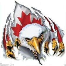 CANADA CANADIAN FLAG EAGLE HELMET BUMPER STICKER DECAL MADE IN USA