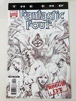 FANTASTIC FOUR THE END #1 SPECIAL EDITION BW ROUGH CUT by ALAN DAVIS! MARVEL NM