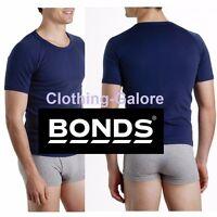 NAVY Mens BONDS Raglan Crew Round T Shirt Tee Singlet Top 14 16 18 20 22 24 26