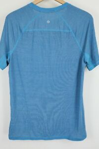 Lululemon Mens sz Medium Short Sleeve Blue Crewneck T Shirt