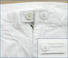 White Pants Shorts Jeans Trousers Waist Extension Expander Extend Size Button WB