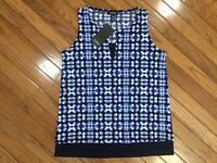 NWT Jones New York Women's Stretch Tank Sleeveless Blouse Top Size XS   MSRP $49