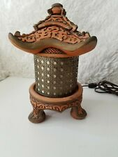 Antique Vintage Japanese Table Lamp From 1959 Lantern Style