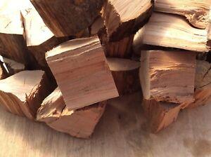 Large box of Cherry BBQ smoker wood chunks kiln dried