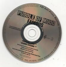 Puddle of Mudd Famous Limited Edition 2007 Promo CD Ultra Rare