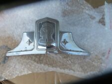 1948 PONTIAC CHROME HOOD EMBLEM '48 above front grill.HAS MOUNTING STUDS