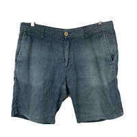 Katin Mens Short Size 34 Americas Surf Co Chambray Blue Good Condition