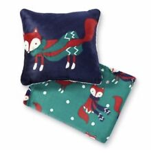 NEW CANNON FOX THROW 50 x 60 AND PILLOW SET VELVET PLUSH SOFT FAST USPS SHIP