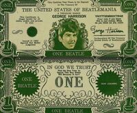 Beatles 1964 Vintage Money George Harrison One Beatles Dollar Bill NM COA