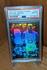1991 Upper Deck AW4 Michael Jordan PSA 10 Award Winner Hologram MVP