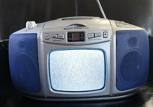 Curtis Black & White TV AM/FM Stereo Radio CD Player Portable Boombox