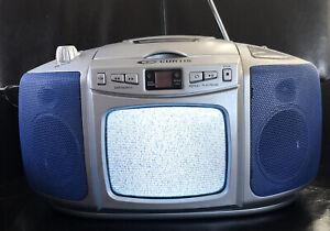 Curtis Black & White TV AM/FM Stereo Radio CD Player Portable Boombox