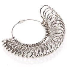 Metal Ring Sizer Finger Gauge Jewelry Tool US Size Measuring Wedding DR US