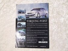 MERCEDES BENZ BRABUS CL 67 S 67 ML 73 C 58 POSTER ADVERT READY TO FRAME A4 SIZE