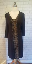 KAPALUA LADIES SNAKESKIN PRINTED FINE KNITTED DRESS SIZE 16 BNWT RRP £89