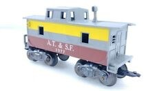 Rare Marx Train AT & SF 1977 Caboose Silver Yellow & Red O Scale
