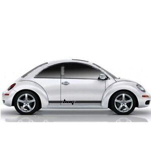 2Pcs Volkswagen VW Beetle Bug Side Stripes Decals Vehicle Graphics