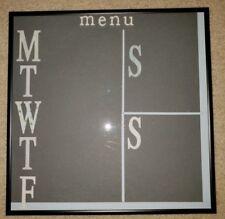 Homemade Dry-Erase Week Menu Board 13 x 13-inch
