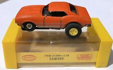 Vintage Aurora Slot Car T-Jet Chevy Camaro Orange 1388 with Original Box