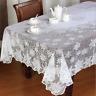 Christmas White Lace Snowflake Tablecloth Room Decor Table Decor Cover Xmas HOT