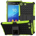 Shockproof Hybrid Rugged Hard Rubber Stand Case Cover For Sony Xperia Models