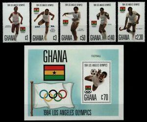Ghana 1984 - Mi-Nr. 1048-1052 A & Block 109 ** - MNH - Olympia Los Angeles