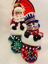Christopher Radko A Perfect Pair Santa Snowman Couple Ornament Sale
