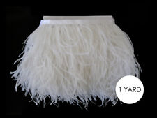 1 Yard - Snow White Ostrich Fringe Trim Wholesale Feather Costume Wedding Craft