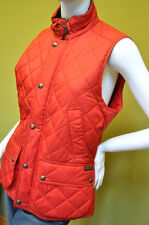 Polo Ralph Lauren womens red quilted barn vest jacket coat size large