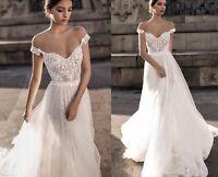 Beach Backless Off The Shoulder Berta Bridal Gowns  Wedding Reception Dress