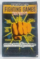 1996 Prima's Fighting Games Secrets STRATEGY CHEATS GUIDE PAPERBACK BOOK