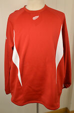 Red Majestic Detroit Red Wings NHL Hockey Sweatshirt Adult 2XL Thermabase
