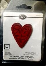 Sizzix Embosslits  HEART LACY Sizzlits fits Cuttlebug 657235